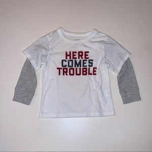 "Children's Place ""Here Comes Trouble"" Toddler Top"
